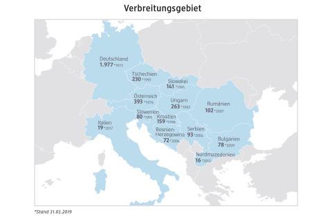 Verbreitungsgebiet dm in Europa