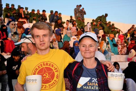 Svenskar uppmärksammar Västsahara genom löpning