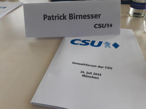 Reduktion von Plastikmüll? - BdS als Teilnehmer beim CSU-Umweltforum