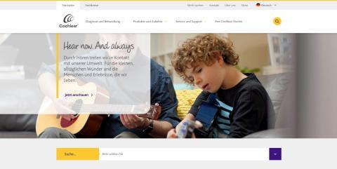 Cochlear präsentiert neuen Internet-Auftritt www.cochlear.de