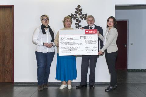 Spendenübergabe an das katholische Blindenwerk in Bonn