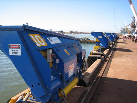 Ready to engage: automated mooring units at Port Hedland, Western Australia #ports #mooring #automation #bulkhandling