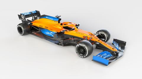 AkzoNobel « rafraîchit » la nouvelle Formule 1 stylée de McLaren, laMCL35