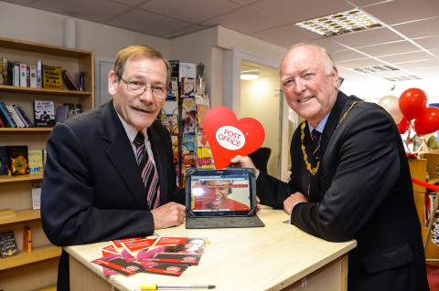 Amble Post Office Officially Opens New Digital Booth In Branch