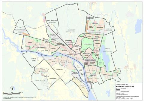umeå karta Karta över stadsdelsområden i Umeå   Umeå kommun umeå karta
