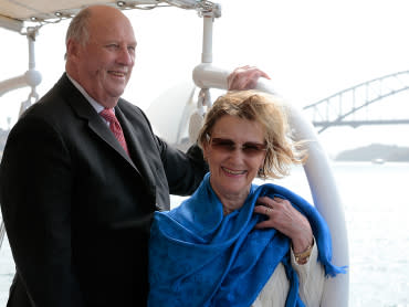 Det norske kongeparet tilstede i Perth ved signering av NGI - UWA samarbeidsavtale