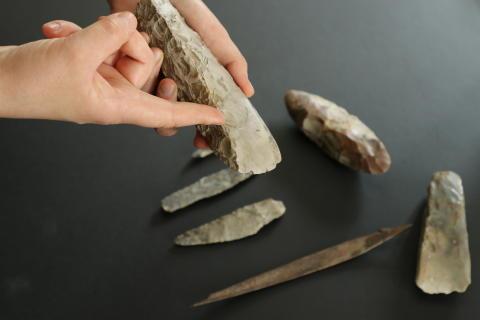 Vis mig dit fund. Stenalderen på Frederikssund Museum. Kredit ROMU