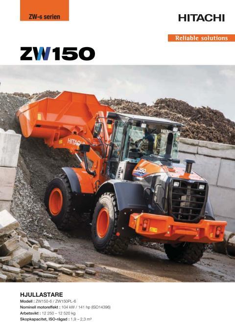 Broschyr Hitachi ZW150-6/ZW150PL-6 hjullastare