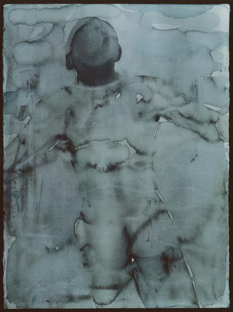 Mats Gustafson, Nude in Water, 1994, akvarell på papper