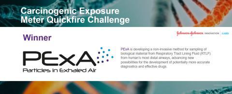 """PExA vinnare i """"Carcinogenic Exposure Meter QuickFire Challenge"""""""