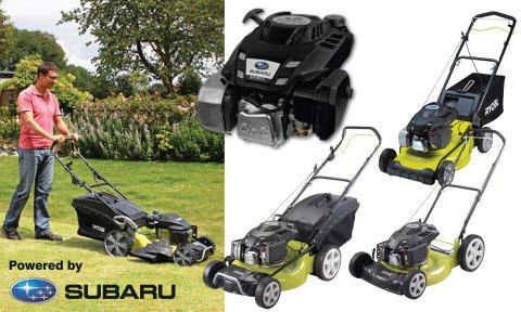 RYOBI® plæneklippere med Subaru® motorer for effektivitet på højt niveau!