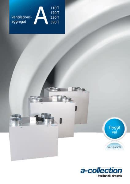 Ny broschyr på ventilationsaggregat A110T-A390T