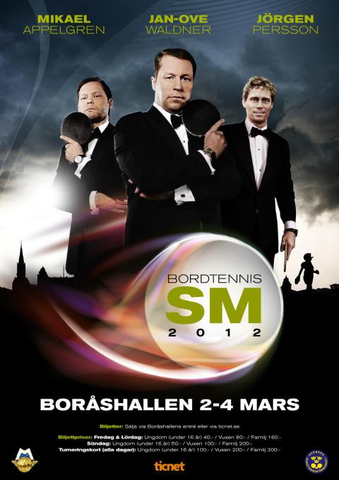 Bordtennis SM 2012, Borås