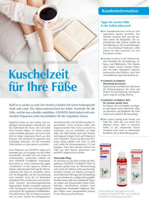 Kuschelzeit für Ihre Füße: Wärmende Fußpflegeangebote von GEHWOL