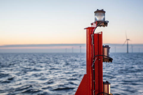Agterlys i offshore vindpark