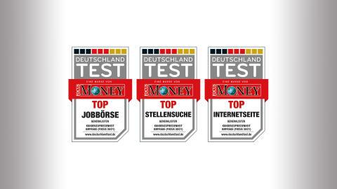 FOCUS DEUTSCHLAND TEST 2021 zeigt: Bei JobScout24 und Jobs.de ist alles TOP