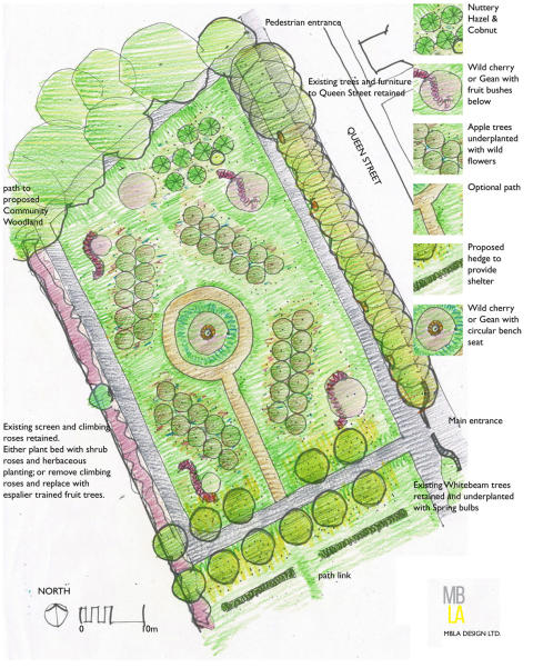 A new community orchard and garden is being installed in Buckie.