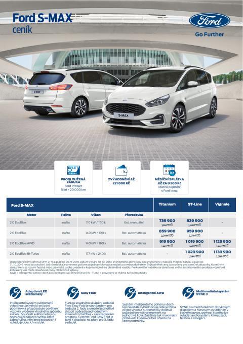 Ceník Ford S-MAX