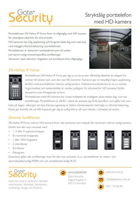 PDF: Stryktålig porttelefon med HD-kamera