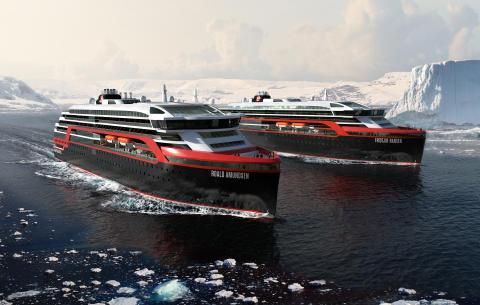 Sneak peek at Hurtigruten's new hybrid ships – and 2019-2020 polar adventures