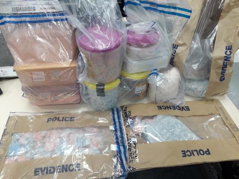 Drugs seized in Patrick Scotland's flat