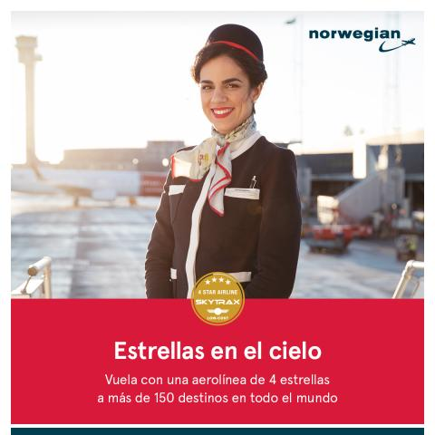 Skytrax corona a Norwegian como aerolínea de cuatro estrellas