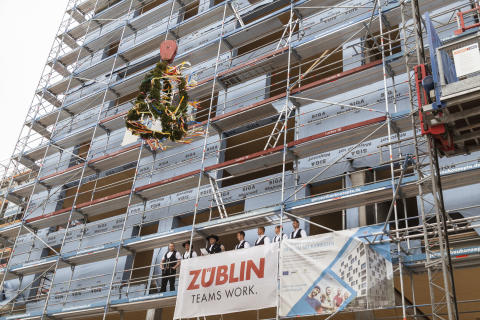Topping-off ceremony for Germany's tallest timber high-rise SKAIO