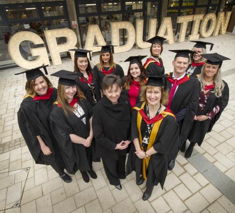 Student nurses graduate from new UK nursing degree programme