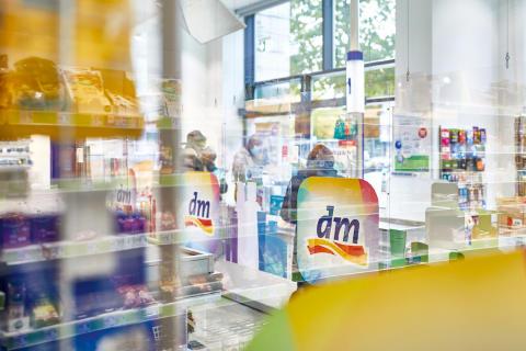 Kassenbereich in einem dm-Markt