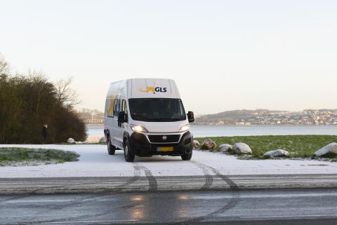 GLS Distributionsbil - vinter