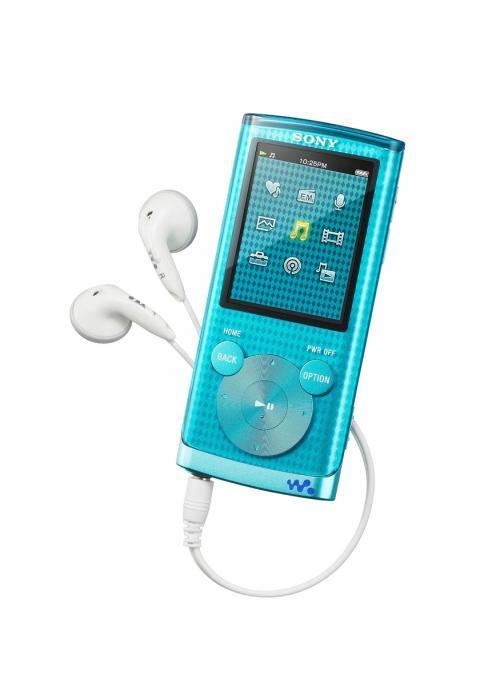WALKMAN NWZ-E450 von Sony_blau-tuerkis_2