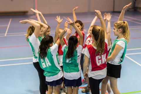 Netball Team, School, Children
