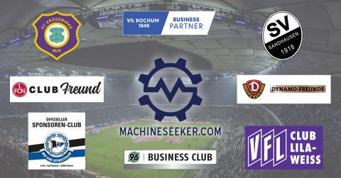 Maschinensucher.de wird größter Sponsor der 2. Bundesliga