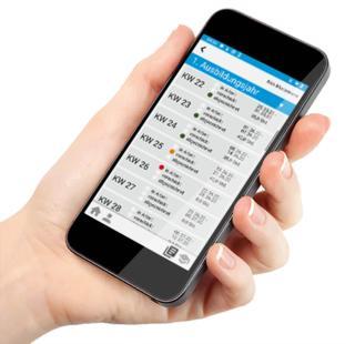 Die Auszubildenden können alle Tätigkeiten einfach und übersichtlich im Handy festhalten.