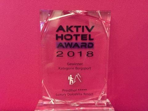Bergsport deluxe - Der Preidlhof gewinnt den Aktiv Hotel Award 2018