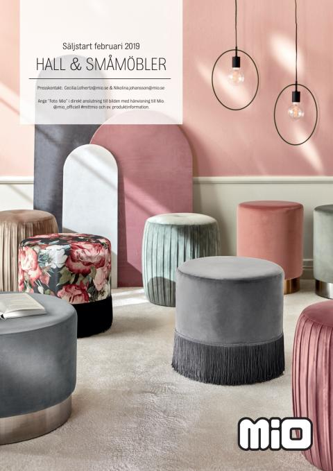 Mio hall och småmöbler - säljstart februari 2019