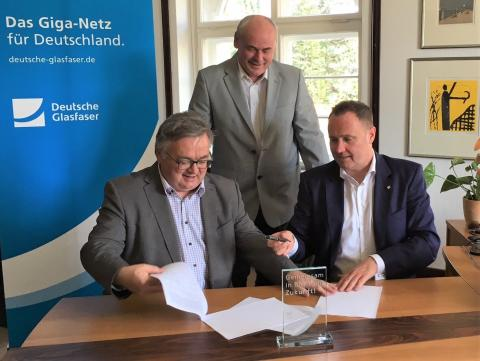 Borsdorf setzt auf Deutsche Glasfaser