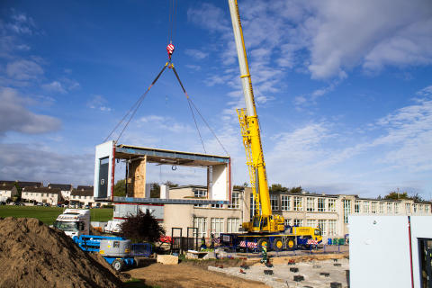 New buildings arrive for Elgin primary