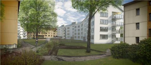 Möt Evy, 94, och fastighetsdirektör Martin Öbo på första spadtag i Kålltorp