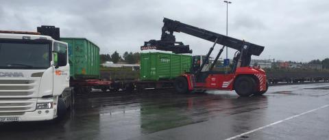 Norsk Gjenvinning och Green Cargo, lastning