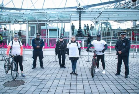 Charity cycle across London builds relationships between young people and police