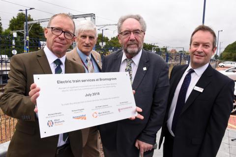 Bromsgrove electric services plaque unveiling
