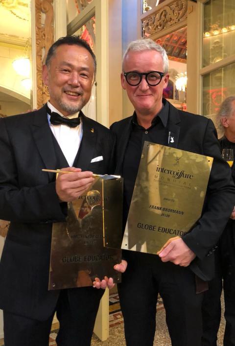 "Intercoiffure Mondial verleiht Frank Brormann in Interlaken den ""Globe Educator Award 2018"""