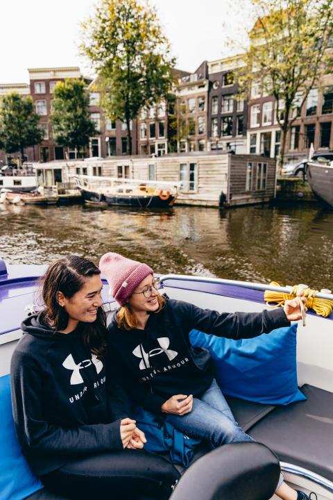 Neben dem RUN stand auch eine Grachtentour durch die niederländische Hauptstadt auf dem Programm.