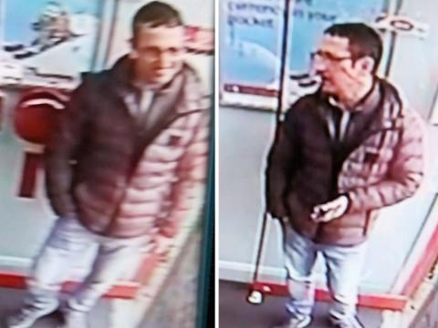 Do you recognise this man sought in connection with the robbery of an elderly woman?