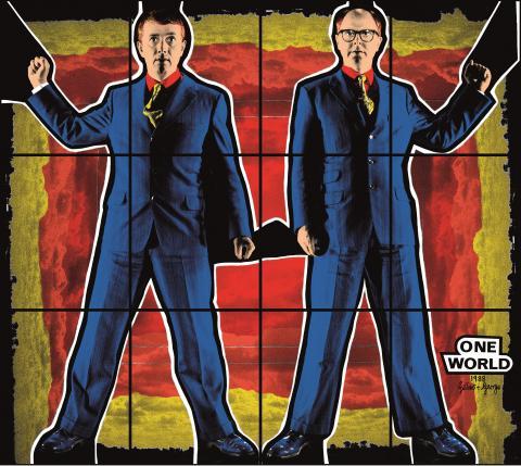 Gilbert & George,  ONE WORLD, 1988