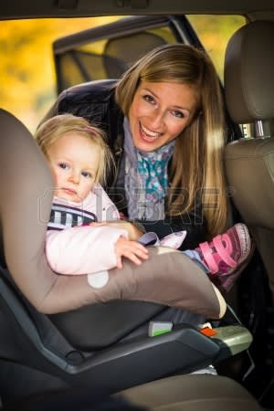 Warning on wrongly fitted child car seats