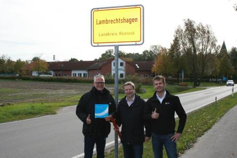 Mecklenburg-Vorpommern: 100 % pure Glasfaser auch für Lambrechtshagen