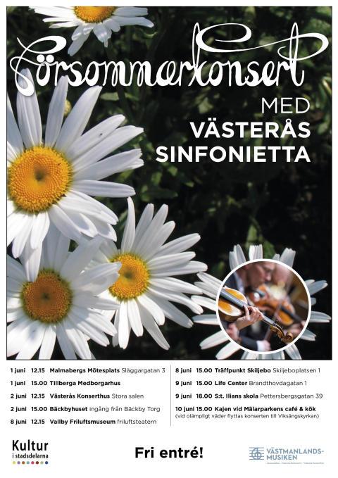 Västerås Sinfonietta på vift i nio stadsdelar