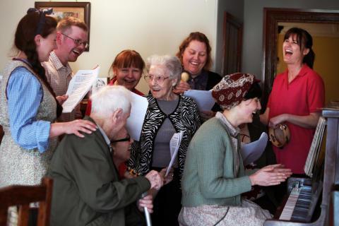 Fun for all at Beamish, during Dementia Awareness Week